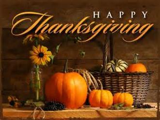 Thanksgiving Holiday Information