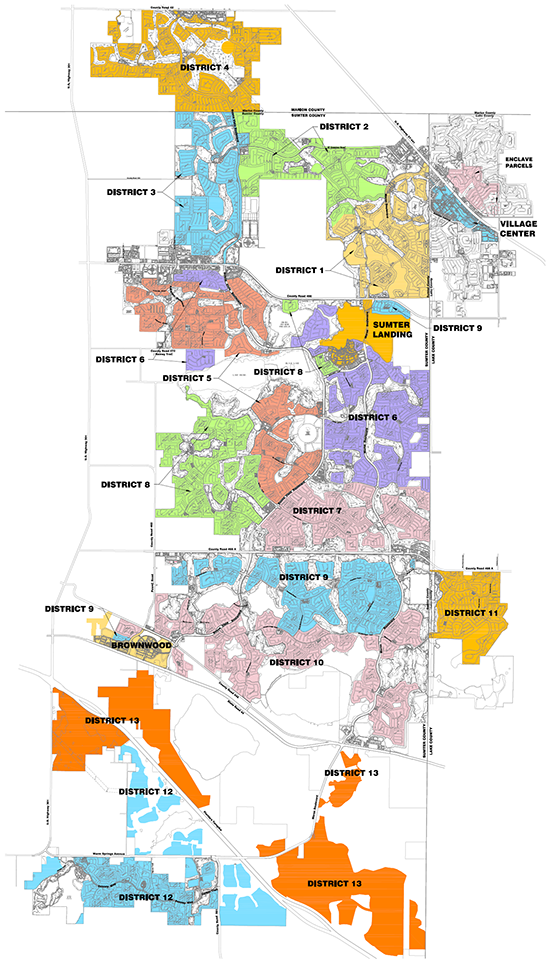 VCDD Districts Map on